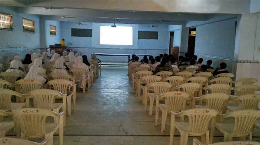 Teaching with projector